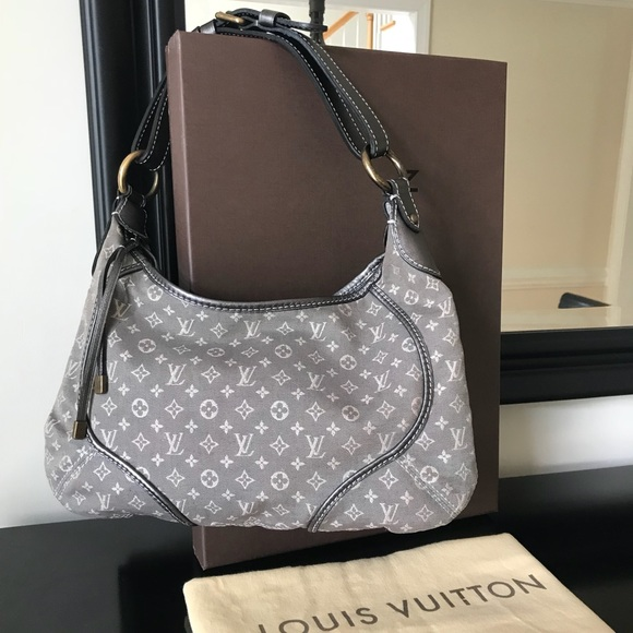 e5ebe7dec0e Louis Vuitton Platine mini Lin canvas Manon PM